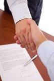 Chiusura del contratto Fotografie Stock