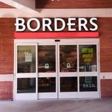 Chiusura della libreria dei bordi Immagini Stock