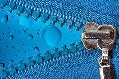 Chiusura lampo con le gocce di colore Fotografia Stock Libera da Diritti