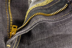 Chiusura lampo dei jeans Immagine Stock Libera da Diritti