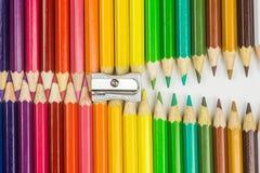 Chiusura lampo della matita Immagini Stock