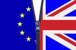 Chiusura lampo di Brexit Fotografia Stock Libera da Diritti