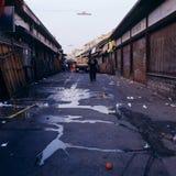 Chiusura vuota Austria di disordine di Naschmarkt Vienna Fotografia Stock Libera da Diritti