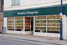 Chiusure del negozio delle forze di recessione Immagine Stock Libera da Diritti