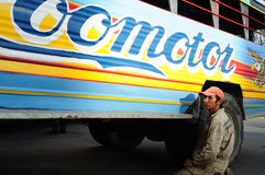 Chiva repair .Colombia Royalty Free Stock Photo