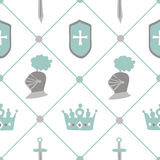 Chivalrous tournament vector seamless pattern Royalty Free Stock Images
