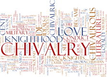 Chivalry word cloud Stock Photography