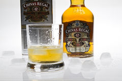 chivas豪华威士忌酒 图库摄影