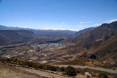 Chivas village in Canyon Colca Royalty Free Stock Photography