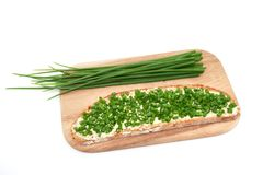 Chive bread Stock Images