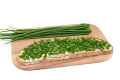 Chive bread Royalty Free Stock Photo