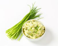 Chive butter Stock Image