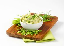 Chive butter stock photos