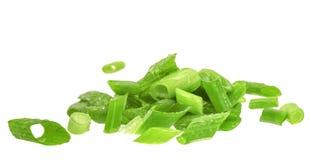 chives Corte a cebola verde Fotografia de Stock Royalty Free