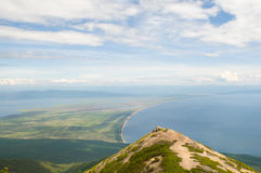 Chivyrkuy bay of lake Baikal Stock Photo