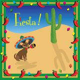 Chiwawa's Mexican Fiesta Party stock illustration