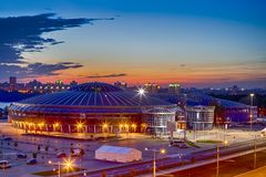 Chizhovka Arena Sport Complex as One of the Main Sport Venues for The Second European Games in Minsk. Belarus. Horizontal image royalty free stock photo