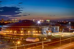 Chizhovka Arena Sport Complex. One of the Main Sport Venues for The Second European Games in Minsk, Republic of Belarus stock images