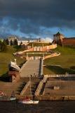 Chkalov stair and Kremlin Tower in Nizhny Novgorod, Russia Stock Image
