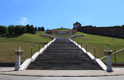 The Chkalov stairway royalty free stock image