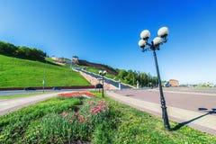 Chkalovskayatrap in Nizhny Novgorod royalty-vrije stock afbeelding