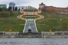 Chkalovskayatrap in Nizhny Novgorod royalty-vrije stock foto's