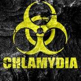 Chlamydia concept background Royalty Free Stock Image