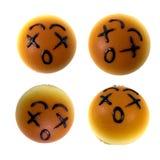 chlebów śliczna wyrażeń twarz cztery różnorodna Obrazy Royalty Free