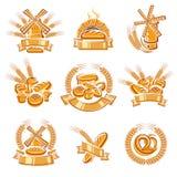 Chlebów elementy i wektor ilustracja wektor