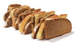 Chlebów plasterki Zdjęcia Royalty Free