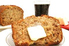 chleb bananowy śniadanie Fotografia Stock