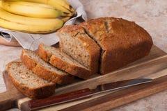 chleb bananowy pokroić nuts Zdjęcie Stock
