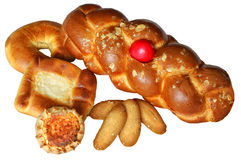 chleb ciący ciąć Obrazy Stock