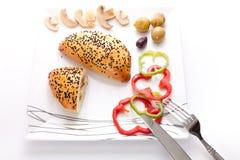Chleb faszerujący z Pieczarką Zdjęcia Royalty Free