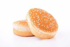 Chleb, hamburger fotografia royalty free