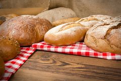 Chleb i babeczki Obraz Royalty Free