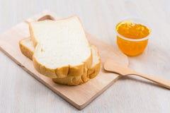 Chleb i dżem Zdjęcie Royalty Free