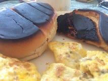 Chleb i grzanka w ranku obraz stock
