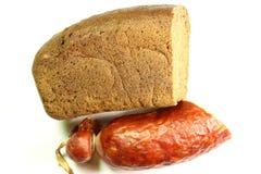 Chleb i kiełbasa Obrazy Stock
