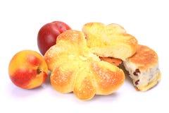Chleb i nektaryna Obraz Stock