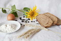 Chleb i produkty Fotografia Stock