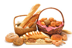 Chleb i rolki Zdjęcia Royalty Free