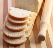 Chleb i rozcięcia deska Zdjęcie Royalty Free