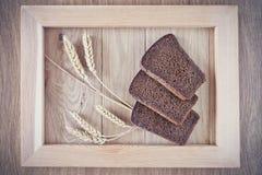 Chleb i spikelets Zdjęcie Stock