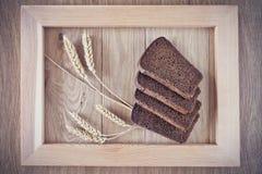 Chleb i spikelets Obrazy Stock