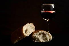 Chleb i wino Fotografia Stock