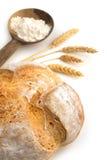 Chleb, mąka i wiązka ucho, i fotografia royalty free