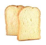 Chleb, masło odizolowywał Białego tło Zdjęcia Royalty Free