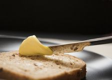 chleb masła Zdjęcie Stock