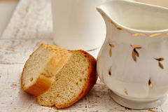 chleb mleka Obraz Royalty Free